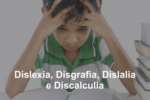 Curso sobre Dislexia, Disgrafia, Dislalia e Discalculia